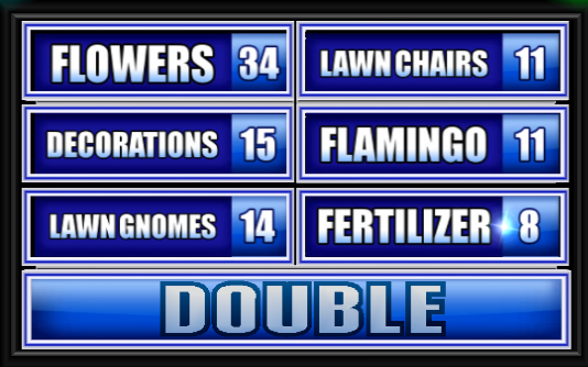 name something that people put on their front lawns family feud
